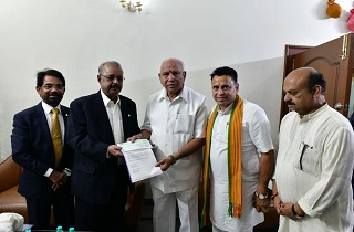 Dr. Muhammed Majeed , Chairman and Managing Director of Sami-Sabinsa Group Donated Rs 2 Crores to Karnataka Chief Minister's Distress Relief Fund