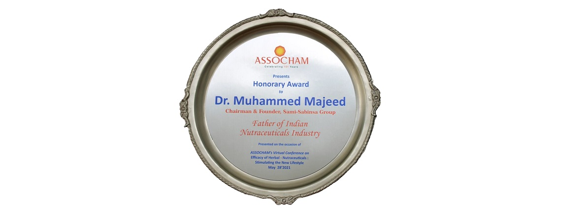 Sabinsa Founder Dr. Muhammed Majeed Named Father of Indian Nutraceuticals Industry by ASSOCHAM