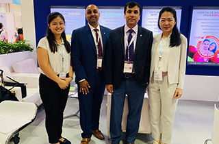 With customers visiting our stall - VitaFoods Asia 2019